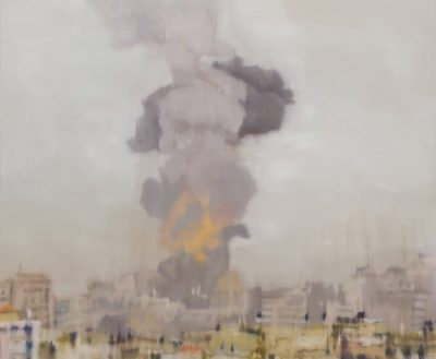 Kate Stevens Gaza oil on canvas 122 x 112cm